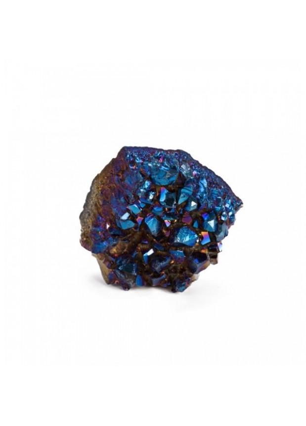 Cuarzo Titanio Cobalto Azul